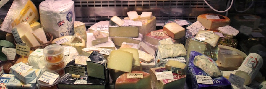 Selection of Italian, French and British cheese including Gorgonzola, Torta Di Dolcelatte, Pecorino, Fontina, Taleggio, Assiago, Scamorza, Buratta, Brie De Meax, Black Bomber and many more.